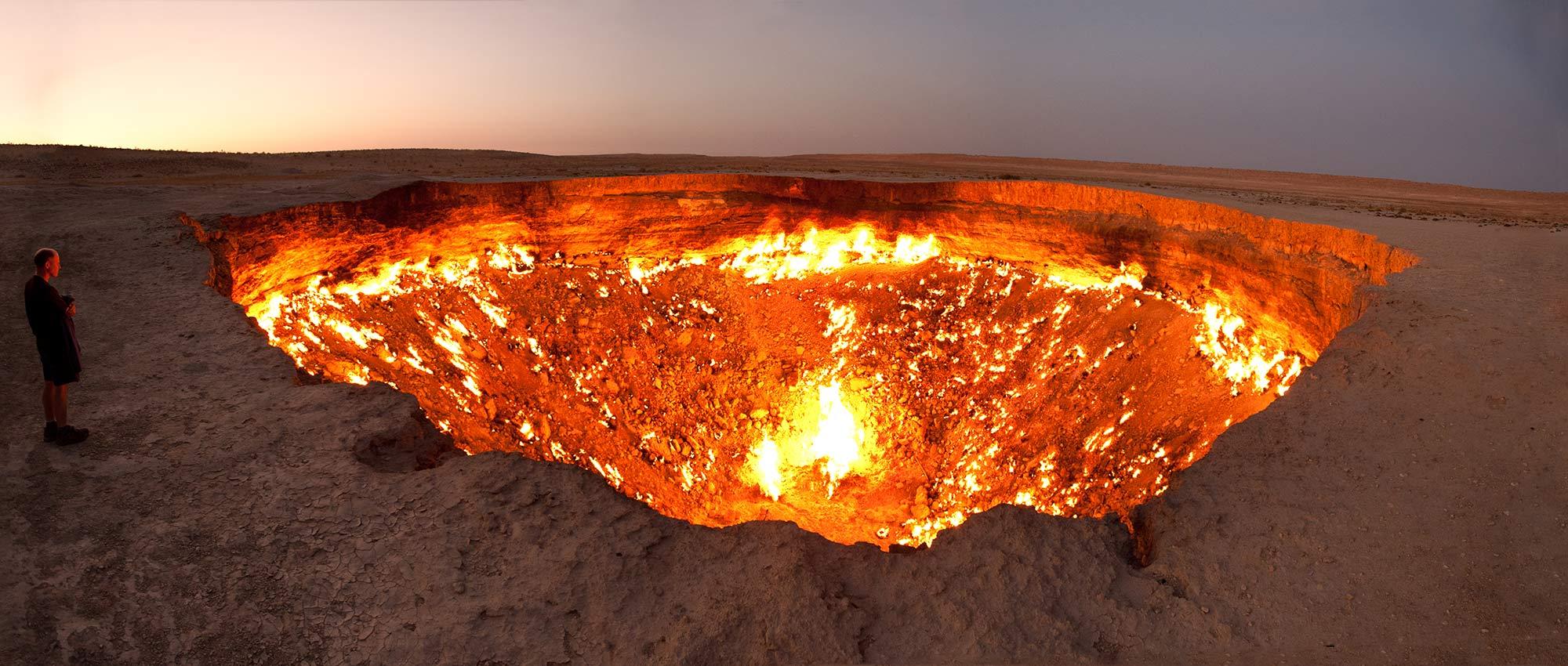 La verso l inferno Turkmenistan